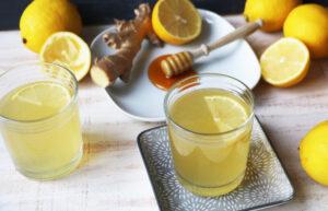 Topla medena limonada z ingverjem